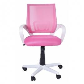 Chaise de bureau bianco-rosa