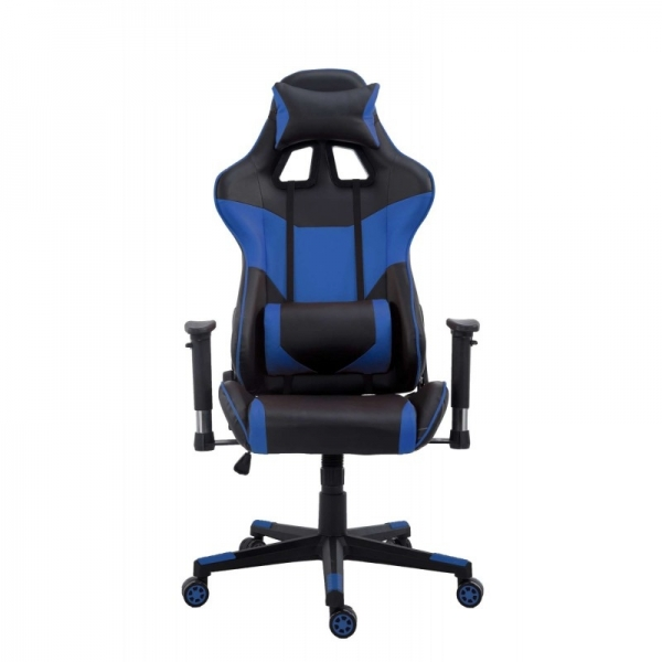 chaise de bureau gamer racer bleu. Black Bedroom Furniture Sets. Home Design Ideas