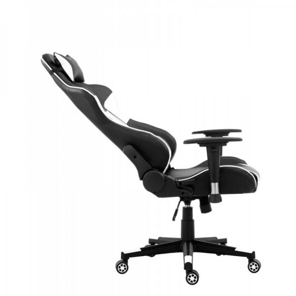 chaise de bureau gamer racer white. Black Bedroom Furniture Sets. Home Design Ideas